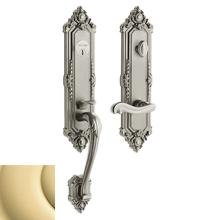 View Product - Non-Lacquered Brass Kensington Handleset