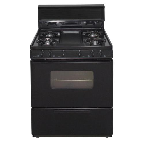 View Product - 30 in. Freestanding Battery-Generated Spark Ignition Gas Range in Black
