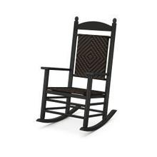 View Product - Jefferson Woven Rocking Chair in Black Frame / Cahaba