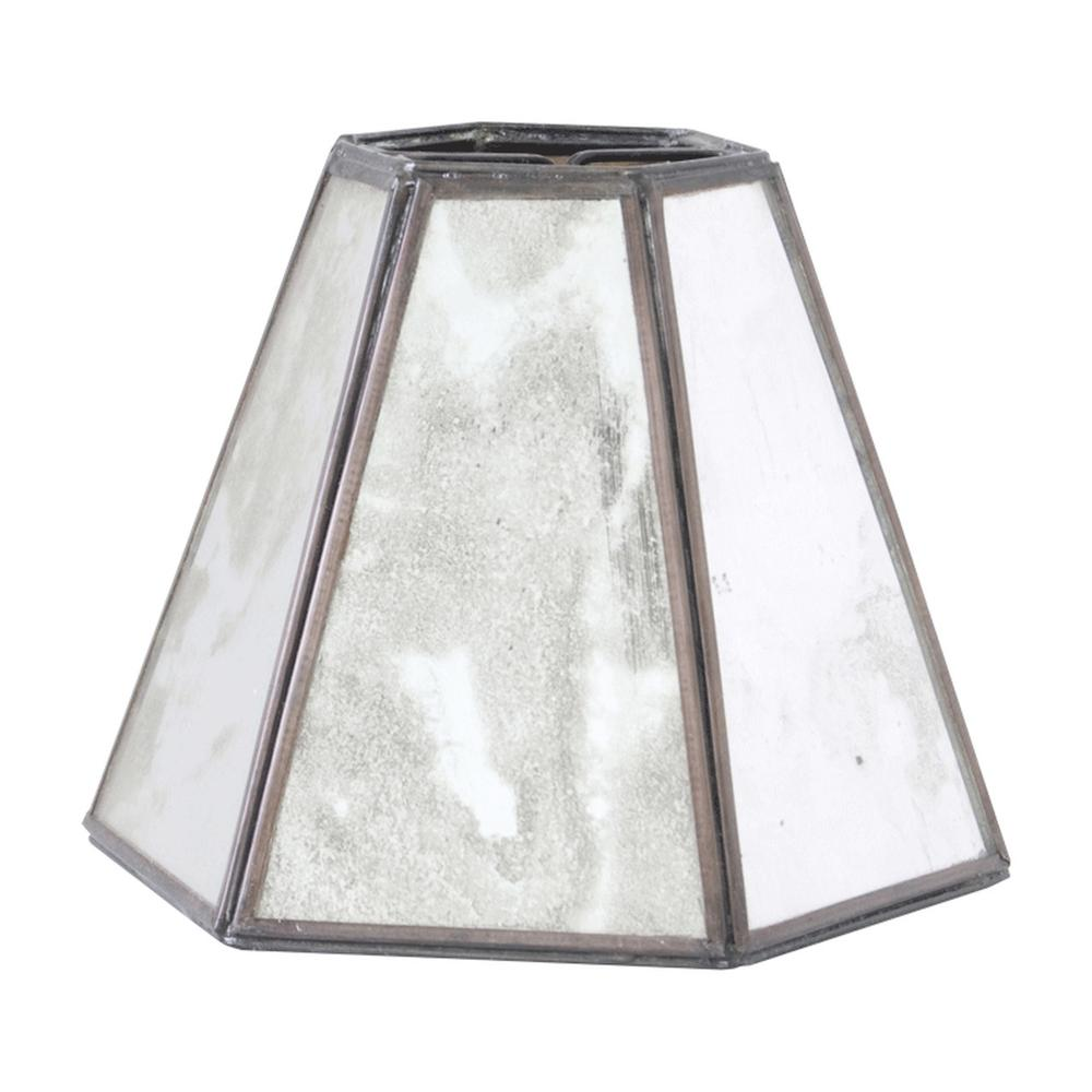 The Ideal Accompaniment for Your Glamorous Style. Antique Mirror Shade With Tapered Hexagonal Silhouette.