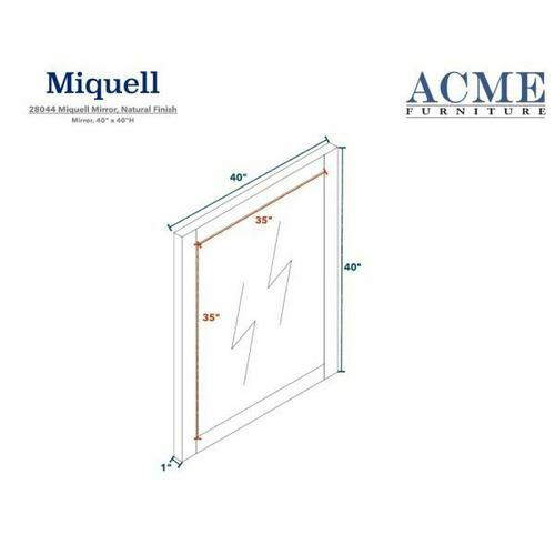 ACME Miquell Mirror - 28044 - Natural
