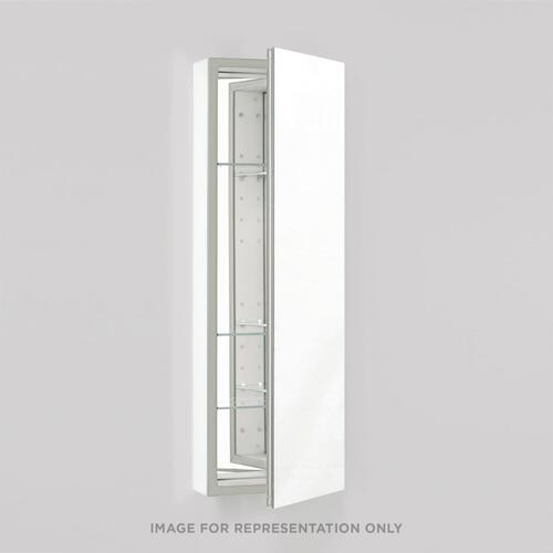 """Pl Series 15-1/4"""" X 30"""" X 4"""" Flat Top Cabinet With Polished Edge, Non-handed (reversible), Classic Gray Interior and Non-electric"""
