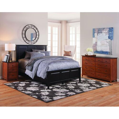 Lancaster 3-Drawer Nightstand. Solid wood panel sides & full extension drawer glides