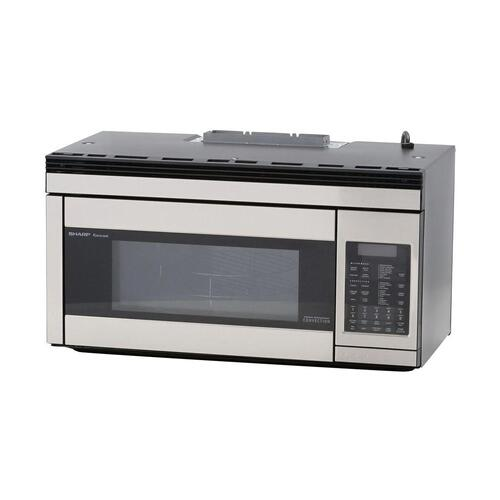 Sharp - 1.1 cu. ft. 850W Sharp Stainless Steel Over-the-Range Convection Microwave Oven