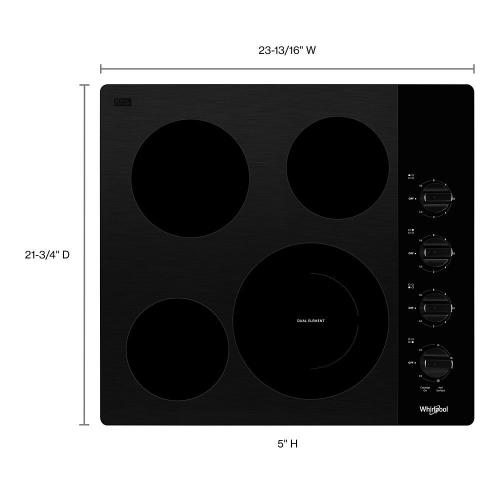 Whirlpool - 24-inch Compact Electric Ceramic Glass Cooktop