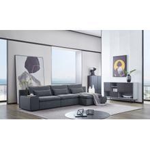 View Product - Divani Casa Paseo - Modern Grey Modular Sectional Sofa