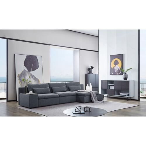 VIG Furniture - Divani Casa Paseo - Modern Grey Modular Sectional Sofa