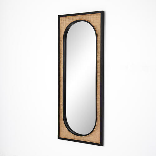 Candon Floor Mirror-ebony Black
