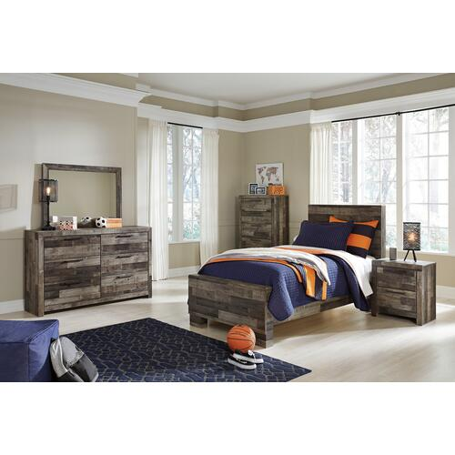 Derekson Twin Panel Bed Multi Gray