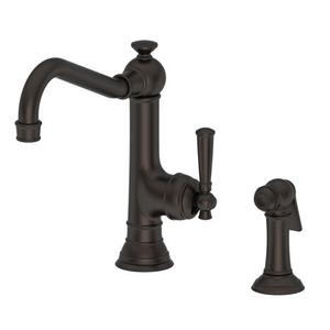 Weathered Copper - Living Single Handle Kitchen Faucet with Side Spray