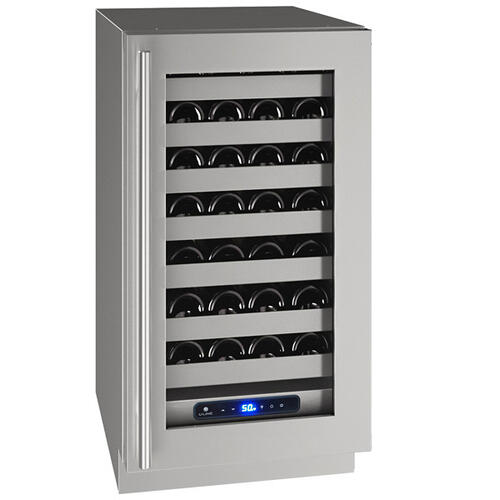 "Hwc518 18"" Wine Refrigerator With Stainless Frame Finish and Right-hand Hinge Door Swing (115 V/60 Hz Volts /60 Hz Hz)"