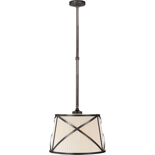 Visual Comfort - E. F. Chapman Grosvenor 2 Light 15 inch Bronze Hanging Shade Ceiling Light