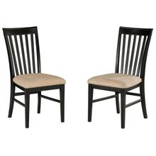 Mission Dining Chairs Set of 2 with Oatmeal Cushion in Espresso