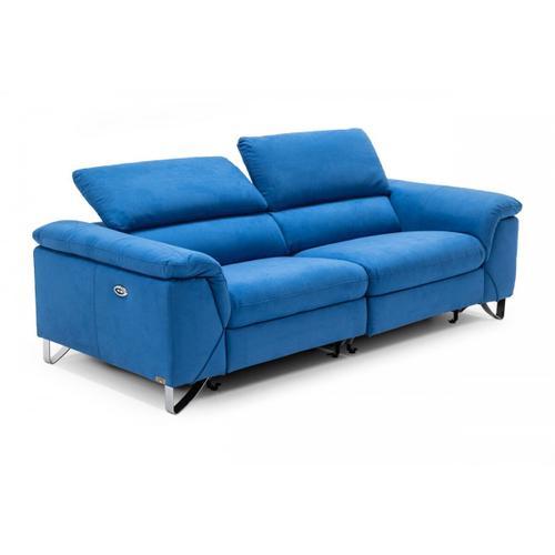 VIG Furniture - Divani Casa Maine - Modern Royal Blue Fabric Sofa w/ Electric Recliners