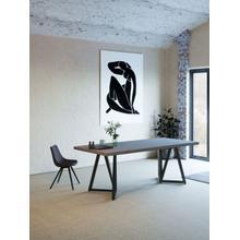View Product - Modrest Richmond Modern Concrete & Black Metal Dining Table