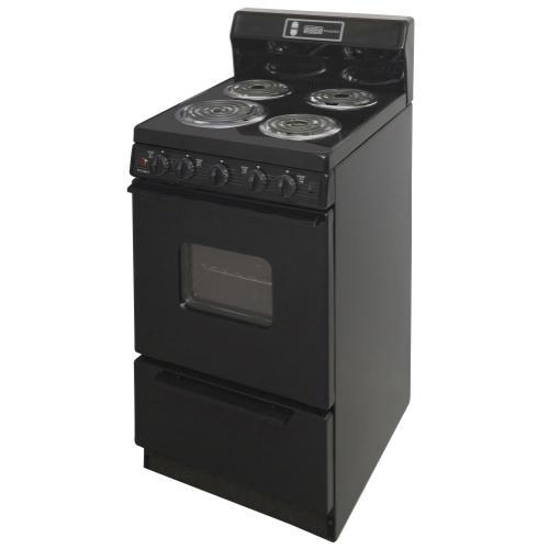 Premier - 20 in. Freestanding Electric Range in Black