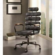 ACME Calan Executive Office Chair - 92107 - Vintage Black Top Grain Leather