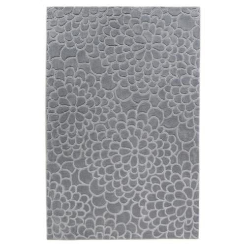 Mosaic Floral Grey 5ftx7ft