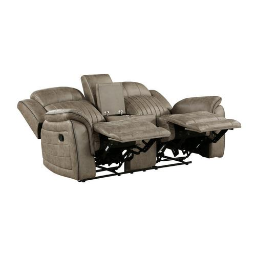 Homelegance - Double Reclining Love Seat with Center Console
