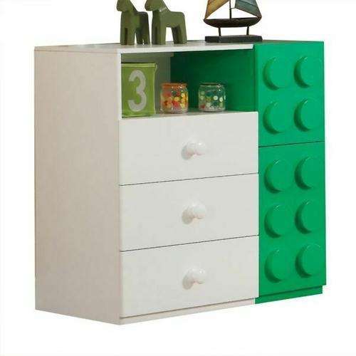ACME Playground Dresser - 30751 - White & Multi-Color