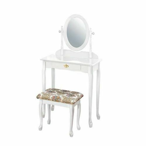 ACME Queen Anne Vanity Set - 02337WH - White