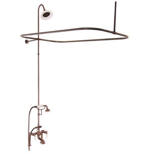 Tub/Shower Converto Unit - Elephant Spout, Shower Ring, Riser, Showerhead - Lever / Oil Rubbed Bronze