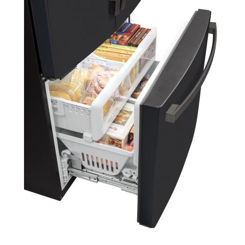 GE Appliances - GE® ENERGY STAR® 23.1 Cu. Ft. Counter-Depth French-Door Refrigerator