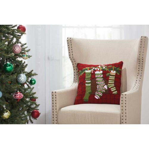 """Home for the Holiday Yx110 Multicolor 18"""" X 18"""" Throw Pillow"""