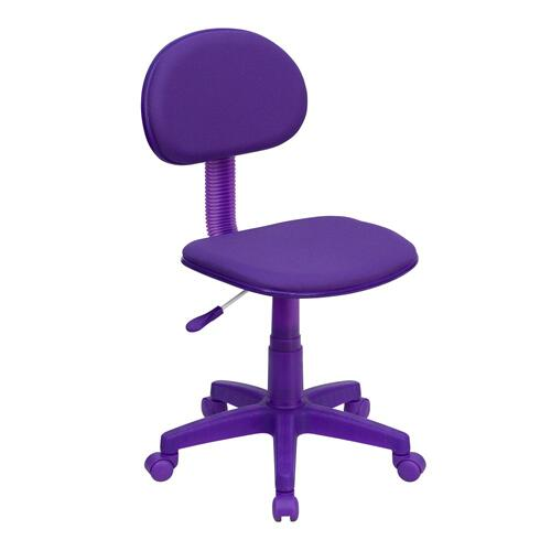 Purple Fabric Swivel Task Chair