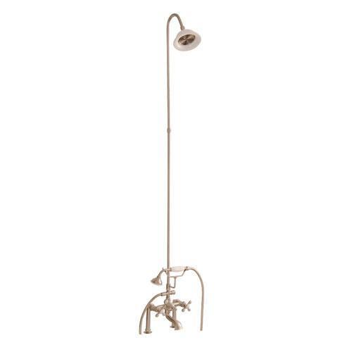 Tub/Shower Converto Unit - Elephant Spout, Riser, Showerhead - Lever / Brushed Nickel