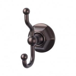 Edwardian Bath Double Hook Hex Backplate - Oil Rubbed Bronze
