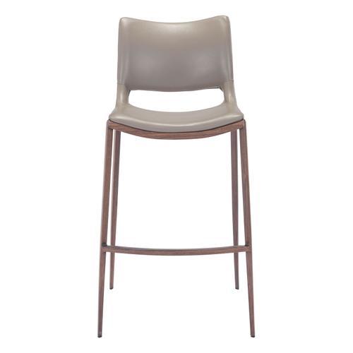Zuo Modern - Ace Bar Chair Gray & Walnut