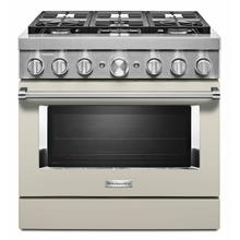 View Product - KitchenAid® 36'' Smart Commercial-Style Dual Fuel Range with 6 Burners - Milkshake