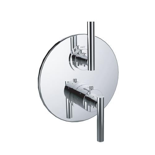 """7095tj-tm - 1/2"""" Thermostatic Trim With Volume Control in Satin Rose Gold"""