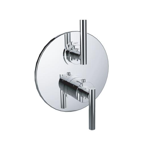 """7095tj-tm - 1/2"""" Thermostatic Trim With Volume Control in Polished Nickel"""