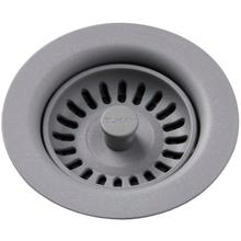 View Product - Elkay Polymer Drain Fitting with Removable Basket Strainer and Rubber Stopper Greystone
