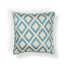 "L242 Turquoise Diamonds Pillow 18"" X 18"""
