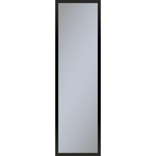 """Profiles 11-1/4"""" X 39-3/8"""" X 4"""" Framed Cabinet In Matte Black With Electrical Outlet, Usb Charging Ports, Magnetic Storage Strip and Right Hinge"""