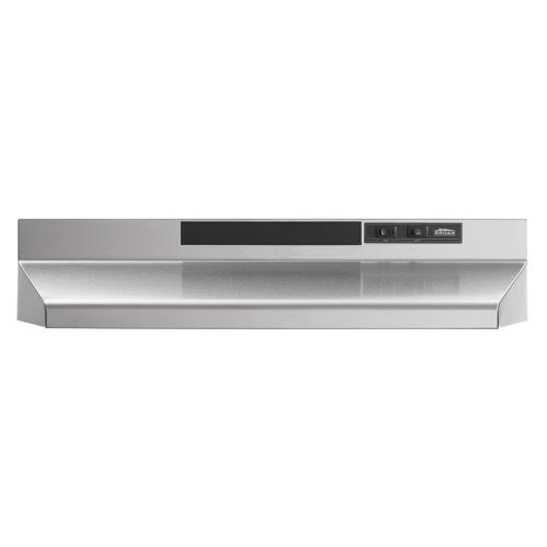 Broan® 30-Inch Convertible Under-Cabinet Range Hood, 160 CFM, Stainless Steel