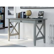 See Details - Lexi Desk with Drawer and Charging Station Atlantic Grey