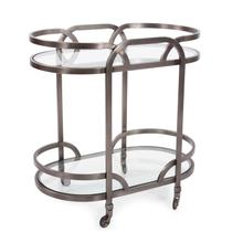 View Product - Black Nickel Stainless Steel Bar Cart