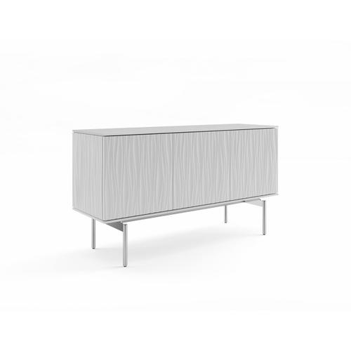7107 Triple Credenza in Smooth Satin White