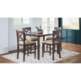 Walnut Creek 5 Pack - Counter Table W/(4) Stools