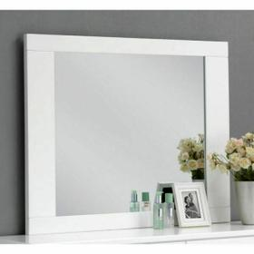 ACME Lorimar Mirror - 22634 - White & Chrome Leg