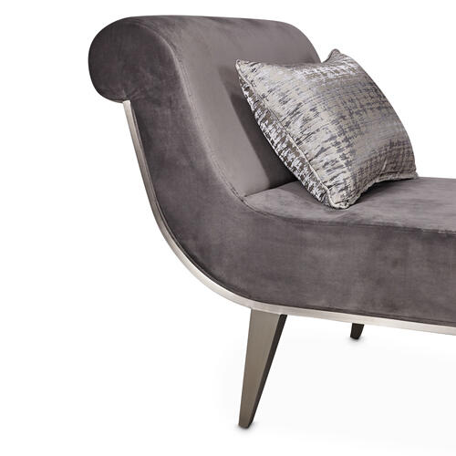 Roxburypark Chaise Gray Pearl Stain Lesssteel