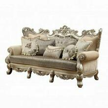 ACME Ranita Sofa w/7 Pillows - 51040 - Fabric & Champagne