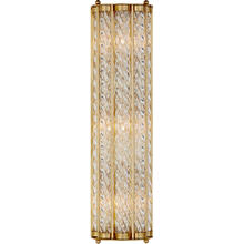 AERIN Eaton 3 Light 6 inch Hand-Rubbed Antique Brass Linear Sconce Wall Light