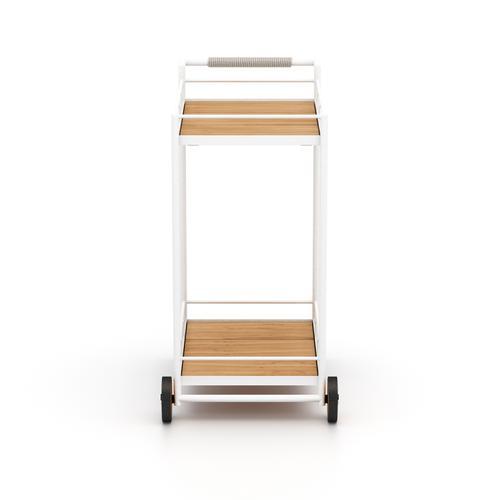 Aroba Outdoor Bar Cart-white Aluminum