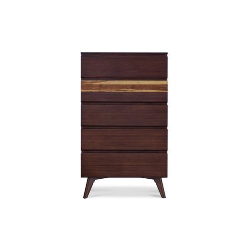 Greenington Fine Bamboo Furniture - Azara Five Drawer High Chest, Sable