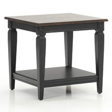 Glennwood End Table  Black & Charcoal